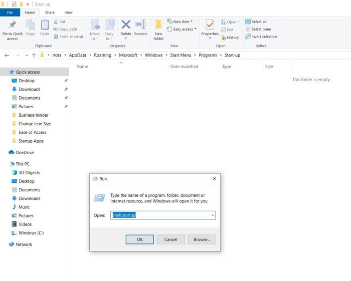how to change what apps open on startup windows 10