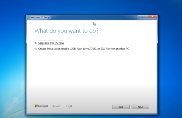 how to upgrade from windows 7 to windows 10 professional