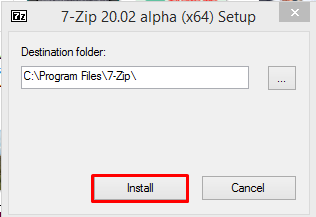 How to unzip .7z files on windows 10