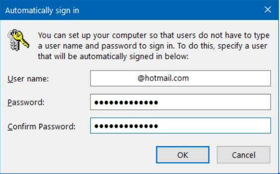 how to get rid of sign-in on windows 10