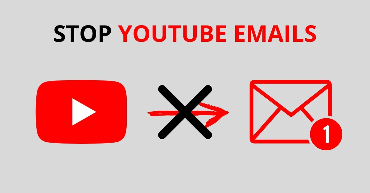 How to stop Youtube from sending email updates