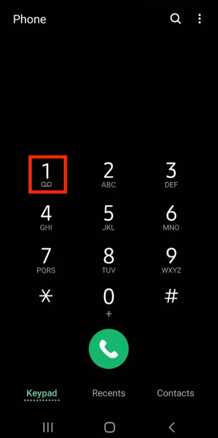 how to do voicemail on android