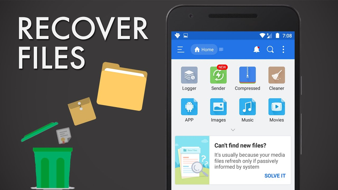 how to recover deleted files for android