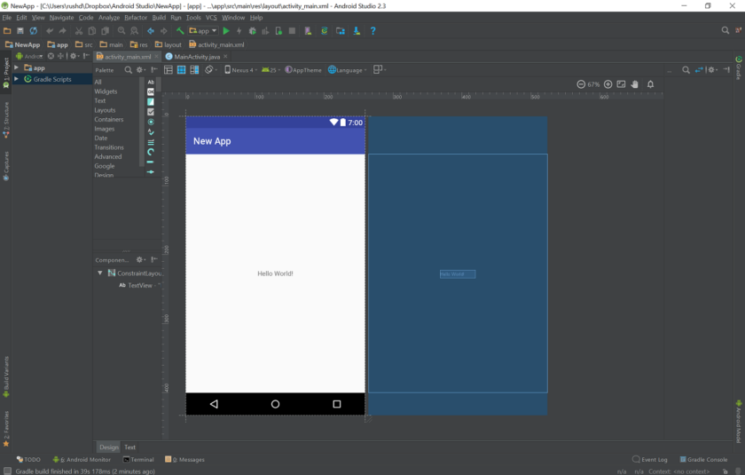 how to write a apps for android