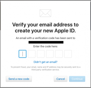 how to create apple id on android