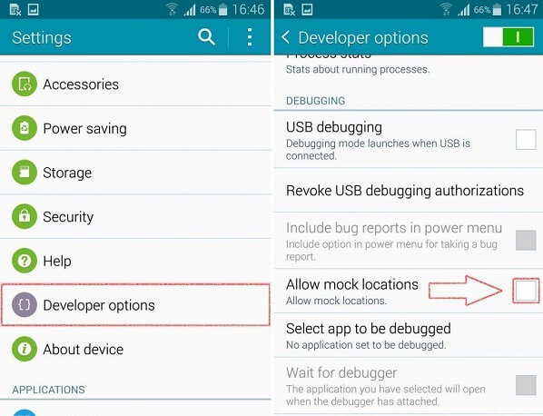 how to change phone location android