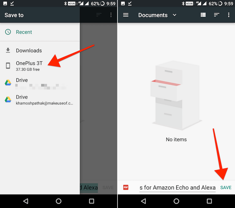 how to save web pages on android