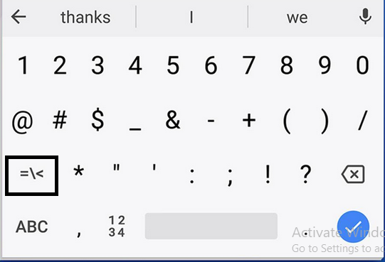 How to Type Square Root Symbol on Android Phone