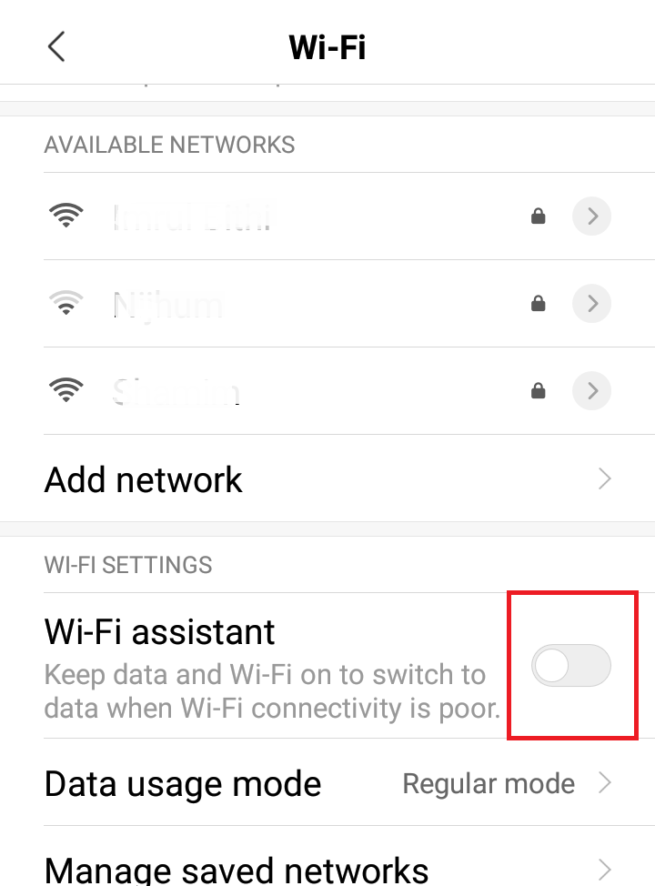 why is my phone using data when connected to wifi android