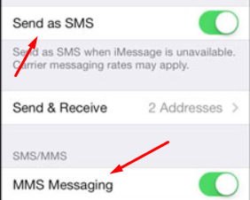 why wont my iphone send texts to android